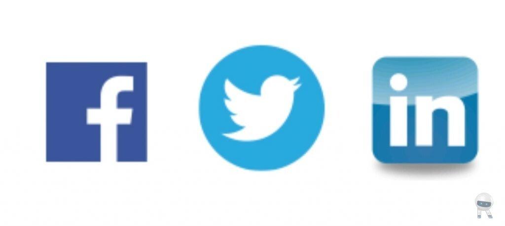 فیس بوک، توییتر، لینکدین
