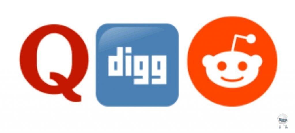 Reddit,Quora,Digg