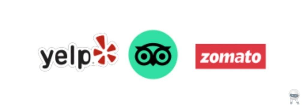 Yelp,Zomato,TripAdvisor